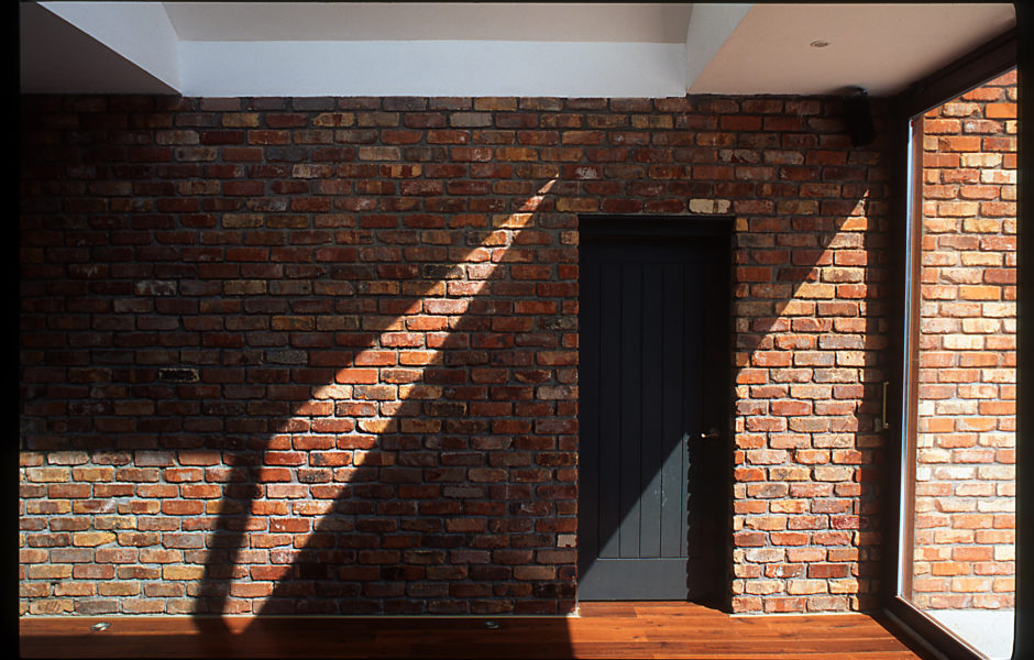 Brick Wall with hidden Shed