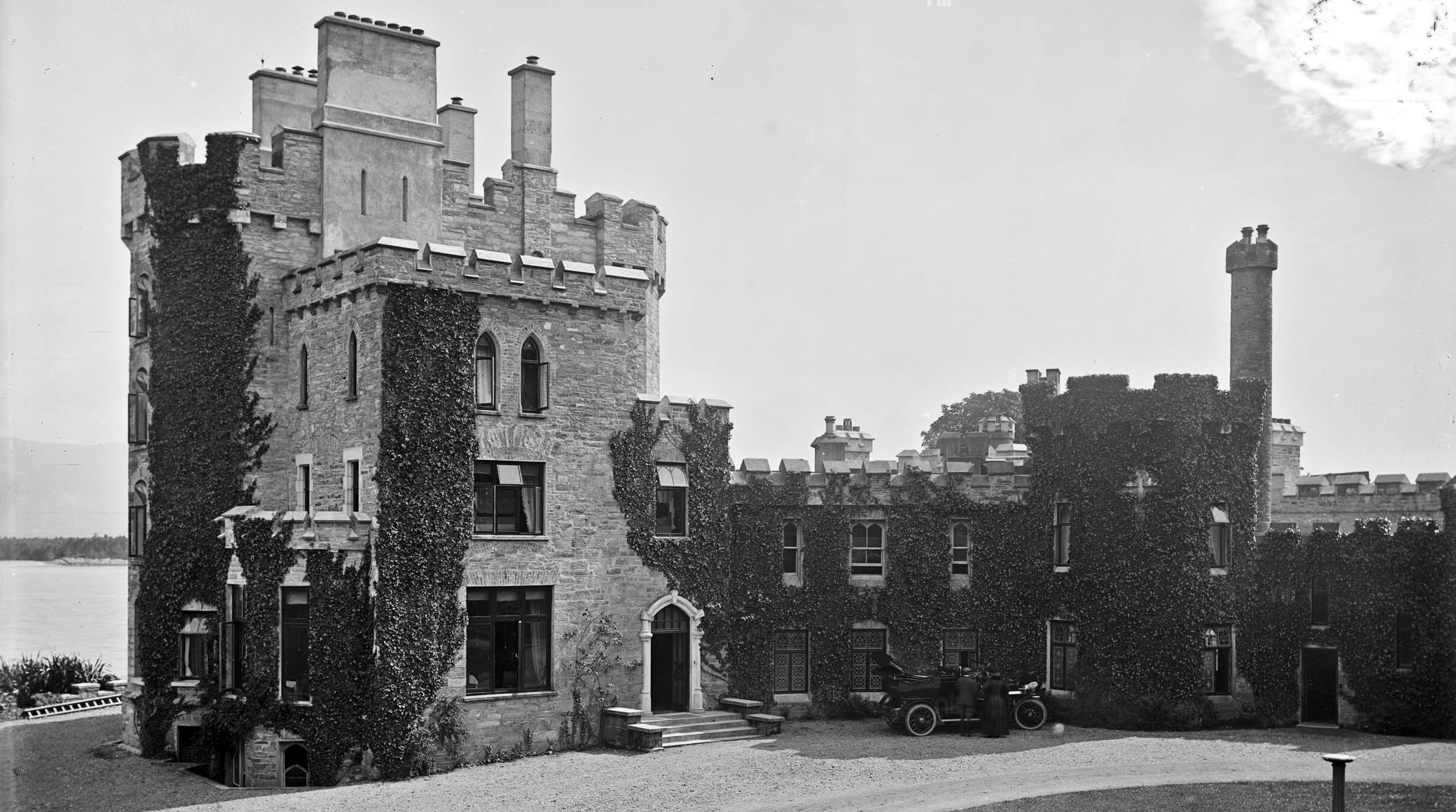 Derryquin Castle photographed by Robert French ca. 1904 to 1914