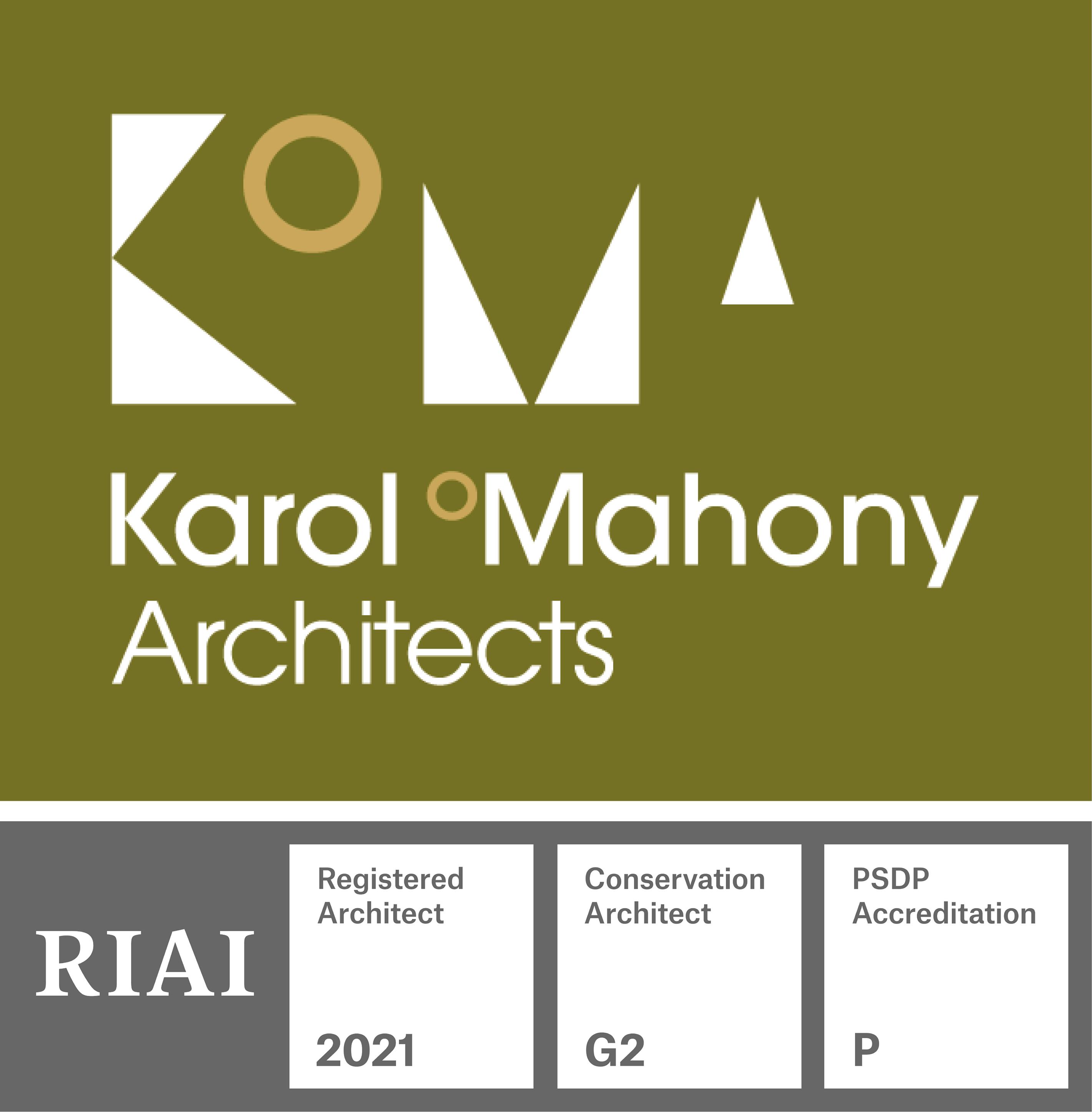 Karol O'Mahony and RIAI logos